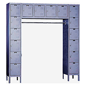 Hallowell U1788-16 Premium Locker 16 Person 12x18x12 Ready To Assemble Gray