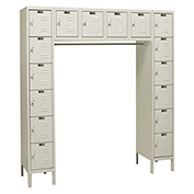 Hallowell U1788-16 Premium Locker 16 Person 12x18x12 Ready To Assemble Parchment
