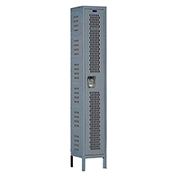 Hallowell U1818-1HV-A Heavy-Duty Ventilated Locker Single Tier 18x21x72 Assembled Gray