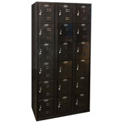 Hallowell U3282-6A-ME Black Tie Locker Six Tier 12x18x12 18 Doors Assembled, Black