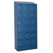 Hallowell URB3228-6ASB-MB Ready-Built II Locker Six Tier 3 Wide - 12x12x13-5/8 Blue