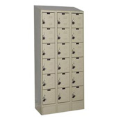 Hallowell URB3288-6ASB-PT Ready-Built II Locker Six Tier 3 Wide - 12x18x14 Parchment