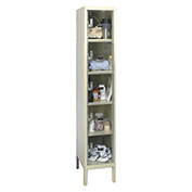 Hallowell USVP1286-5A Safety-View Plus Locker Five Tier 12x18x12 5 Doors Assembled Parchment