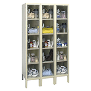 Hallowell USVP3226-5 Safety-View Plus Locker Five Tier 12x12x12 15 Doors Ready To Assemble Parchment