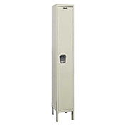 Hallowell UY1558-1A Maintenance-Free Quiet Locker Single Tier 15x15x72 1 Door Assembled Parchment