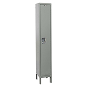 Hallowell UY1818-1A Maintenance-Free Quiet Locker Single Tier 18x21x72 1 Door Assembled Gray