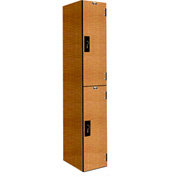 Hallowell PHL1282-2A-FA VersaMax Phenolic Locker 12x18x36 Double Tier, 1 Wide, Annigre, Padlock Hasp