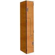 Hallowell PHL1282-ZA-E-FA VersaMax Phenolic Locker, 12x18x42, Z Tier, 1 Wide, Annigre, DigiTech Lock
