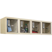 Hallowell UESVP1482 Safety-View Plus Locker w/DigiTech Locks, 12x12x12 4 Person Parchment, Assembled