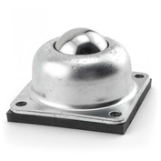 "Hudson CBT-1 1/2CS/SS 1-1/2"" Stainless Steel Ball 4 Hole Flange Steel Housing Neoprene Cushion"