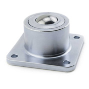 "Hudson FHDBTM-1-3/16 CS/SS HD 1-3/16"" Stainless Steel Ball 4 Hole Flange Carbon Steel Housing"