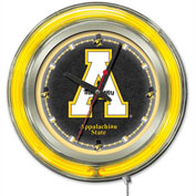 "Appalachian State University Double Neon Ring 15"" Dia. Logo Clock"