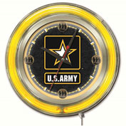 "United States Army Double Neon Ring 15"" Dia. Logo Clock"