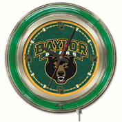 "Baylor University Double Neon Ring 15"" Dia. Logo Clock"