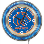 "Boise State University Double Neon Ring 15"" Dia. Logo Clock"