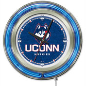 "University of Connecticut Double Neon Ring 15"" Dia. Logo Clock"