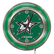 "Dallas Stars® Double Neon Ring 15"" Dia. Logo Clock"