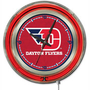 "University of Dayton Double Neon Ring 15"" Dia. Logo Clock"
