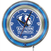 "Eastern Illinois University Double Neon Ring 15"" Dia. Logo Clock"