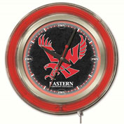 "Eastern Washington University Double Neon Ring 15"" Dia. Logo Clock"