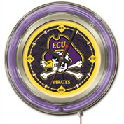 "East Carolina University Double Neon Ring 15"" Dia. Logo Clock"