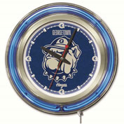 "Georgetown University Double Neon Ring 15"" Dia. Logo Clock"