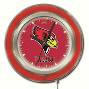 "Illinois State University Double Neon Ring 15"" Dia. Logo Clock"