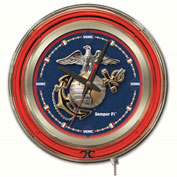 "United States Marine Corps Double Neon Ring 15"" Dia. Logo Clock"