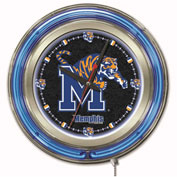 "University of Memphis Double Neon Ring 15"" Dia. Logo Clock"