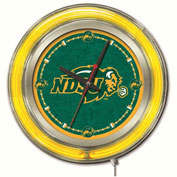 "North Dakota State University Double Neon Ring 15"" Dia. Logo Clock"