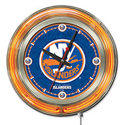 "New York Islanders® Double Neon Ring 15"" Dia. Logo Clock"
