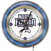 "University of North Florida Double Neon Ring 15"" Dia. Logo Clock"