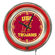 "University of Southern California Double Neon Ring 15"" Dia. Logo Clock"