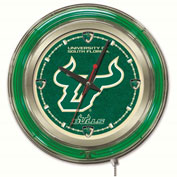 "University of South Florida Double Neon Ring 15"" Dia. Logo Clock"