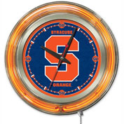 "Syracuse University Double Neon Ring 15"" Dia. Logo Clock"