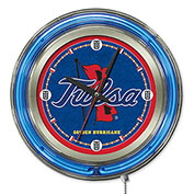 "University of Tulsa Double Neon Ring 15"" Dia. Logo Clock"