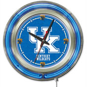 "University of Kentucky ""UK"" Double Neon Ring 15"" Dia. Logo Clock"