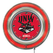 "University of Nevada Las Vegas Double Neon Ring 15"" Dia. Logo Clock"