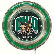 "University of Ohio Double Neon Ring 15"" Dia. Logo Clock"