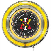 "Virginia Military Institute Double Neon Ring 15"" Dia. Logo Clock"