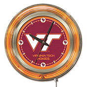 "Virginia Tech University Double Neon Ring 15"" Dia. Logo Clock"