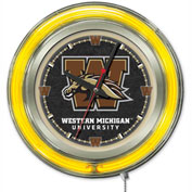 "Western Michigan University Double Neon Ring 15"" Dia. Logo Clock"