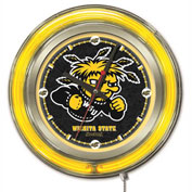 "Wichita State University Double Neon Ring 15"" Dia. Logo Clock"