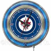"Winnipeg Jets® Double Neon Ring 15"" Dia. Logo Clock"