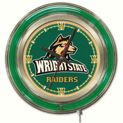 "Wright State University Double Neon Ring 15"" Dia. Logo Clock"
