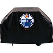 "Holland Bar Stool, Grill Cover, Edmonton Oilers, 72""L x 21""W x 36""H"