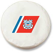United States Coast Guard White Tire Cover-TCLGCSTGRDWT
