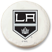 Los Angeles Kings White Tire Cover-TCLGLAKINGWT
