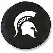 Michigan State University Black Tire Cover-TCLGMICHSTBK