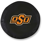 Oklahoma State University Black Tire Cover-TCLGOKSTUNBK